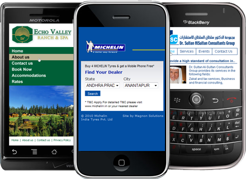 Mobile Phone Websites