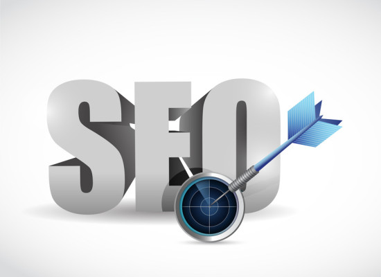 seo target and solutions concept illustration design over white